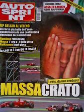 Autosprint 37 2008 Belgio: Hamilton retrocesso, Massa 1°, Raikkonen fuori SC.58
