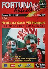 Programm 1996/97 Fortuna Düsseldorf - VfB Stuttgart