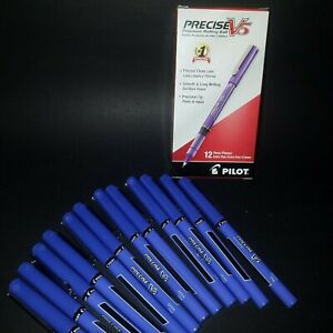 Purple Ink Pen Pilot Precise V5 35334  0.5mm Extra Fine Rolling Ball , Box of 12