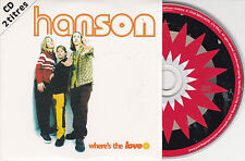 CD CARDSLEEVE HANSON WHERE'S THE LOVE 2T DE 1997 FRENCH EDITION !!!
