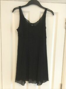 BLOCH Ladies Panelled Black Mesh Ballet/Lyrical Dance Dress XL