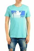 "Hugo Boss ""Tauno 2"" Men's Turquoise Graphic Crewneck T-Shirt US M IT 50"