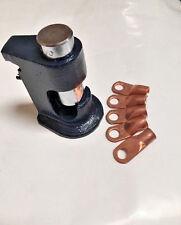 Free Ring Terminals + Large Gauge Hammer Crimper 1/0 to 8 Gauge AWG Wire Crimper