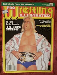 Pro Wrestling Illustrated Magazine October 1982 RIC FLAIR Cover NWA WORLD CHAMP