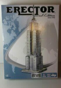 Erector Meccano Metal Construction Set Empire State Building 961 Parts Complete