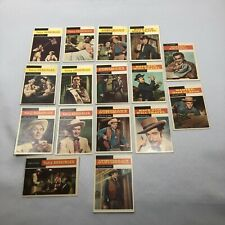 Lot of (16) 1958 TOPPS TV WESTERNS Trading Cards CBS Gunsmoke Yancy Derringer