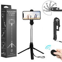 Remote Selfie Stick Tripod Cell Phone Stand Holder For iPhone Samsung OnePlus LG