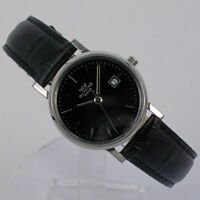 Glycine Women's Watch Quartz with Leather Strap and Date 3817.19 Steel NEW