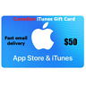 CANADIAN  ITUNES GIFT CARD MUSIC MOVIE APP TV  $50 FAST EMAIL DELIVERY