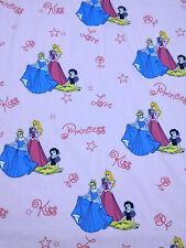 VTG 90s Disney Princess Curtain Pink Snow White Aurora Cinderella Fabric