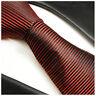 Paul Malone Krawatte rot schwarz fein gestreift - rote Seidenkrawatte 767