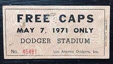 1971 LA Dodgers Baseball Cap Ticket