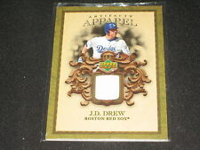 JD DREW DODGERS REDSOX LEGEND AUTHENTIC CERTIFIED GAME USED JERSEY BASEBALL CARD