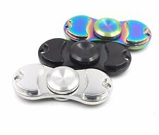 STAINLESS METAL HAND SPINNER FIDGET HIGH SPEED R188 BEARING DESK TOY 6 MIN SPIN