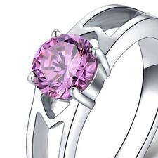 PINK ~ CZ  ~ S/STEEL ~ SIZE:9 ~  RING -- (GREAT_CHRISTMAS_GIFT)