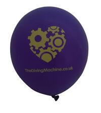 Pack of 50 TheGivingMachine charity latex balloons, purple with yellow heart