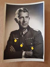 "Foto Portrait Soldat Tita Binz Berlin Wilmersdorf ""Oberstleutnant Dr. Baier"""