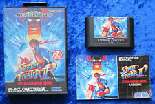 Street Fighter II Special Champion Edition, OVP Anleitung, SEGA Mega Drive Spiel