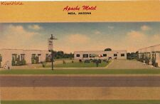 Postcard Apache Motel Mesa Arizona AZ