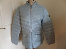 Barbour International Court Quilted Jacket - Ice Blue Size 16 Cost £149 BNWT