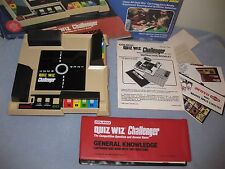 Vintage 1981 Coleco Quiz Wiz Challenger In Original Box Tested Working