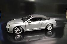 Maisto Silver (Black Top) Bentley Continental Supersports Convertible Die Cast