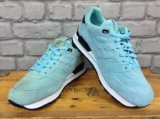 SAUCONY MENS UK 8 EU 42.5 AQUA GOLD POLITICS COURAGEOUS CANNON TRAINERS RRP £110