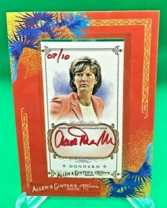 2010 Topps Allen & Ginter ANNE DONOVAN Red Ink Autographed Card (AGA-AD) #7/10!