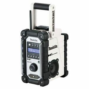 MAKITA DMR110W 18V LXT / 12V MAX CXT DAB+ DIGITAL JOB SITE RADIO WHITE BODY ONLY