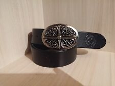 Chrome Hearts handmade genuine leather belt 100cm./39.37in.