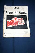 Data East Monday Night Football pinball machine manual (#Man171)