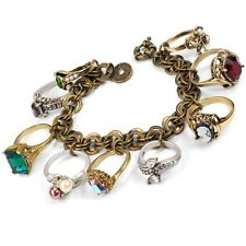 NEW SWEET ROMANCE STUNNING ANTIQUE RINGS CHARM BRACELET  ~~USA MADE~~