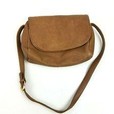 ff2751cad63bd5 Vtg Stone Mountain British Tan Pebble Leather Crossbody Bag Rustic Soft