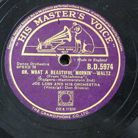 78rpm JOE LOSS oh what a beautiful mornin` - don rivers / people will say we`re