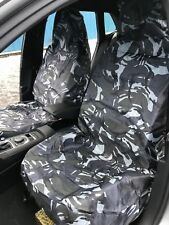 HD Grey DPM Camouflage Camo Waterproof Car / Van Front Pair Set Of Seat Covers 4
