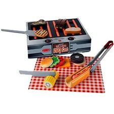 Wooden Play Grill and Serve BBQ Set Cooked House Food Kids Toy Melissa & Doug