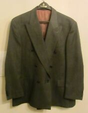 Vtg Ron Chereskin Mens 44R Dk Gray Double Breasted Sport Coat Blazer Suit Jacket