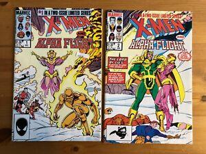 X-Men and Alpha Flight #'s 1&2 Complete High Grade Marvel Comic Book Set CL47-60