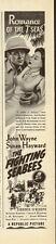 "1944-John Wayne, Susan Hayward ""The Fighting Bees"" Vintage Movie Ad"
