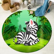 Area Rug Living Room Bedroom Floor Carpet Kids Crawling Mat Cartoon Jungle Zebra