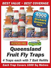 Queensland Fruit Fly Trap Covers 4000 Sq Metres Promo Pack Bulk Buy - Save $50