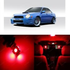 7 x Red LED Interior Lights For 2002 - 2003 Subaru Impreza WRX STI + Pry TOOL