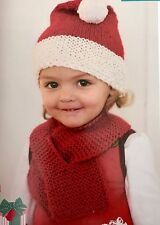FK23 - Knitting Pattern - Children's Father Christmas Hat & Scarf Set. Santa