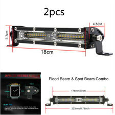 2pcs 7INCH 90W SPOT FLOOD LED WORK LIGHT BAR OFFROAD ATV FOG TRUCK SUV 4WD 12V