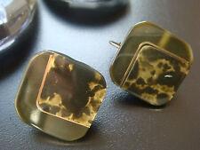 Bronze Mode-Ohrschmuck aus Kunststoff mit Perlen (Imitation)