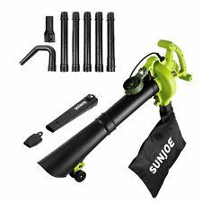 Sun Joe SBJ606E 4-in-1 Electric Leaf Blower/Vacuum/Mulcher/Gutter Cleaner -Green