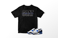 GOAT Graphic T-Shirt To Match Air Max 90 Hyper Royal All Sizes 100% Cotton