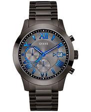 *BRAND NEW* Guess Men's Gunmetal Stainless Steel Bracele Gray  Watch U0668G2