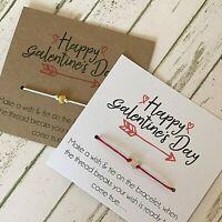 Wish String Bracelet Thank You Wedding Disney Font Birthday Favour Card A133 Kraft