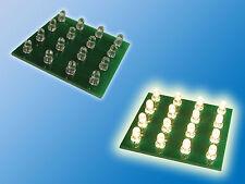 1x LED Platine   Warm Weiß   3000K   12VDC   0,12A   1,44W   bedrahtete 3mm LED